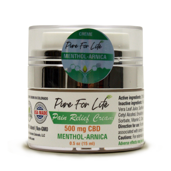 PureForLife™  500 Mg CBD Pain Relief Cream - 0.5...