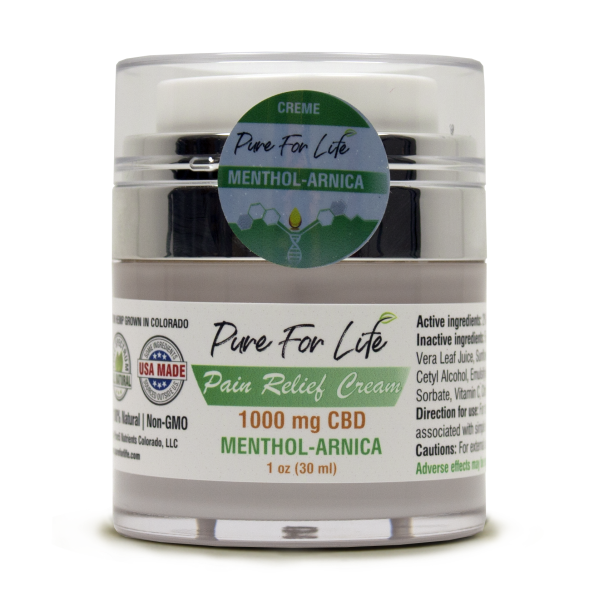 PureForLife™  1000 Mg CBD Pain Relief Cream - 1 ...