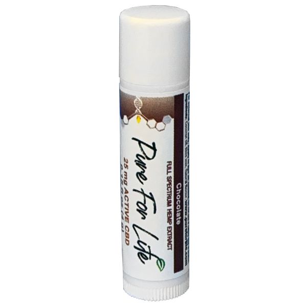 PureForLife™ CBD Lip Balm - 25 mg - Chocolate