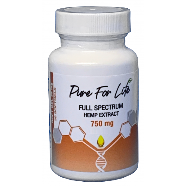 PureForLife™ CBD Gel Capsules - 750mg - 30pc Bot...