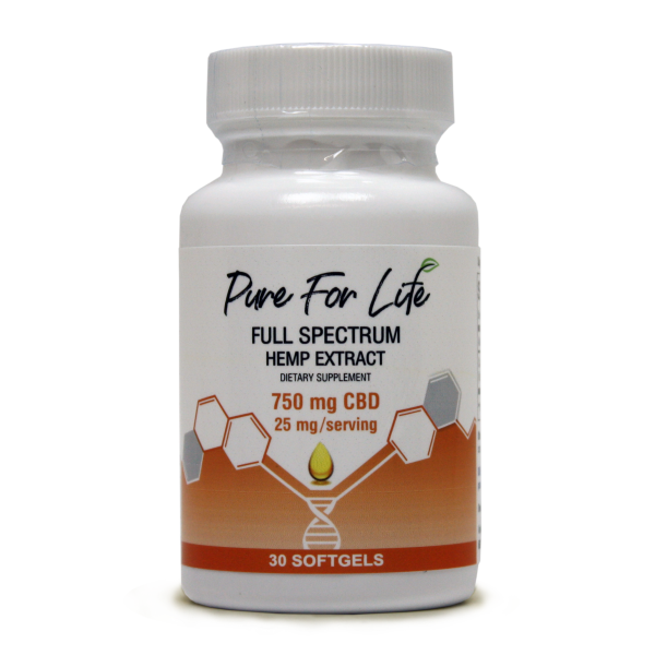 PureForLife™ CBD Gel Capsules - 750mg - 30pc Bottle